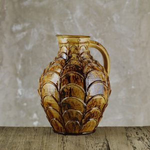 Doug-Fitch-Large-Applique-Swag-Jug-Honey-Slipware-Shannon-Tofts